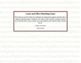 Cause and Effect Review Matching Game