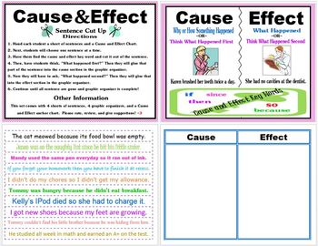 Cause and Effect Sentence Sort