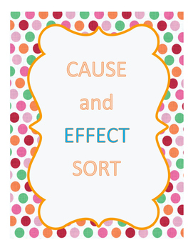 Cause and Effect Sort English and Spanish