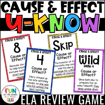 Cause and Effect Game for Literacy Centers