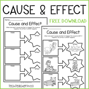 Cause and Effect Worksheet - Science History Civics Free Download