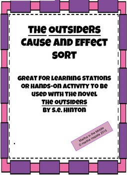 "Cause and Effect in ""The Outsiders"" by S.E. Hinton"