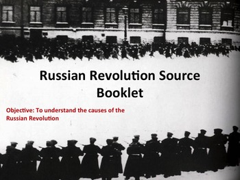 Causes Russian Revolution DBQ Lesson