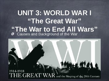 Causes of World War I Presentation (PowerPoint in PDF Format)