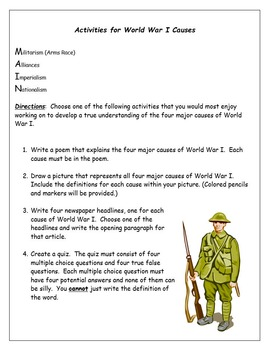 Causes of World War I, a review