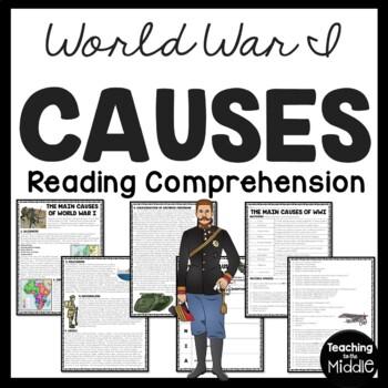 World War I- Causes Reading Comprehension Worksheet Europe