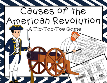 Causes of the American Revolution: A Tic-Tac-Toe Game