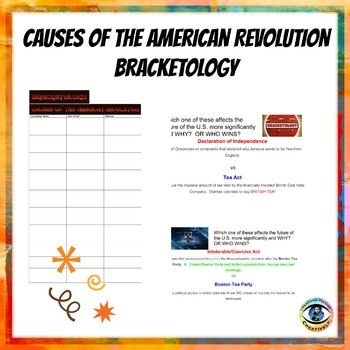 Causes of the American Revolution Bracketology