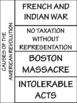 Causes of the American Revolution Foldable; Interactive Notebook