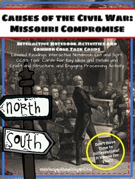 Causes of the Civil War: Missouri Compromise Readings and