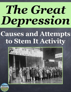 Causes of the Great Depression Group Activity and New Deal