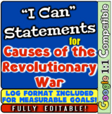 "Revolutionary War Causes: ""I Can"" Statements & Learning Go"