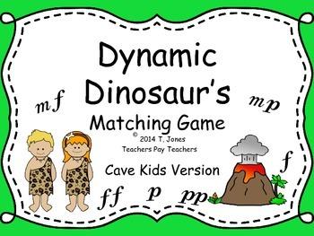 Cave Kids Matching Cards: Dynamics (Music Set #1)