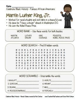 Celebrate Black History - Martin Luther King, Jr. MLK - Se