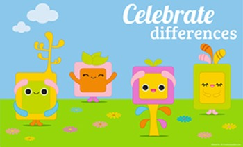 Celebrate Differences Classroom Poster 8 1/2 x 14