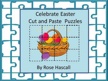Easter  Cut and Paste Printable Puzzles for Centers or Sta