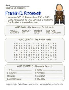 Celebrate U.S. Presidents Franklin Roosevelt - Search,Scra