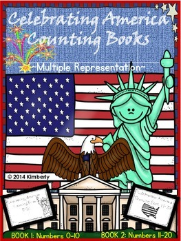 Celebrating America Counting Books (Numbers 0-10 & 11-20) 2 Books
