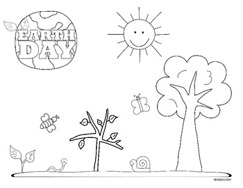 Celebrating Earth Day Coloring Pages