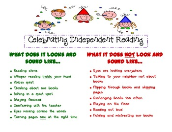 Celebrating Independent Reading Anchor Chart