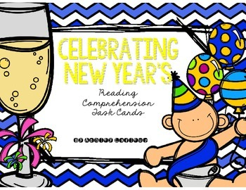 Celebrating New Year's Reading Comprehension Task Cards FREEBIE!