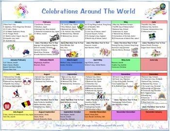 Celebrations Around The World Calendar and Flip Book