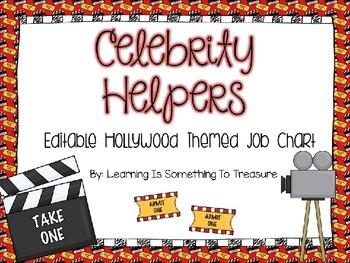 Celebrity Helpers: Editable Hollywood Job Chart