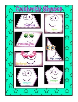 Celebrity Shapes: Common Core Geometry