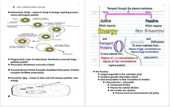 Cell Biology Unit Notes, Unit Plans, Standards and Curricu