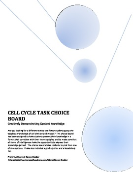 Cell Cycle Choice Board