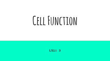 Cell Function: Biology