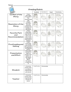 Cell Phone Book Report Rubric