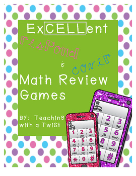 Cell Phone Math Center Review Games