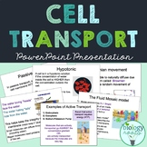 Cell Transport and Cell Membrane Notes