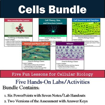 Cell Unit (Five 90min Lesson Bundle with Labs, Activities,