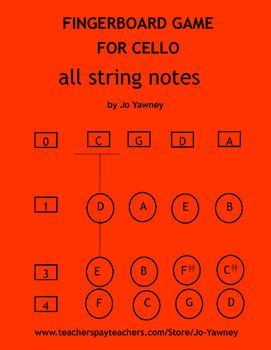 Cello Fingerboard Game
