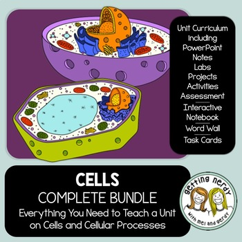 Cells - PowerPoint, Handouts, INB, Task Cards, Word Wall