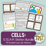 Cells Bundle: Cross Curricular STEAM Differentiated Scienc