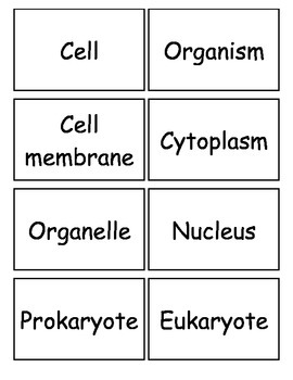 Cells Flashcards_ Set 1, Middle school Science, 6-8 Science