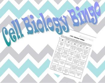Cell Biology Bingo Editable!