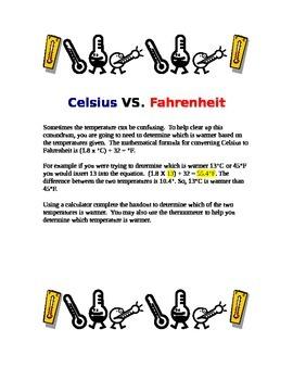Celsius VS. Fahrenheit