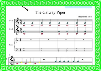 BOOMWHACKER SCORE.st patrick's day-Celtic irish-THE GALWAY PIPER-