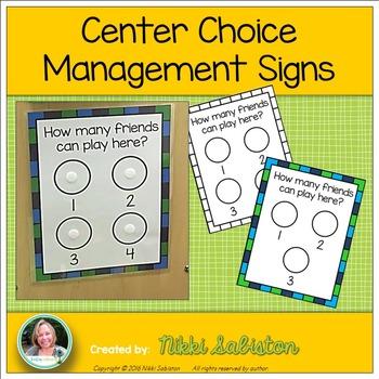 Center Choice Management Signs