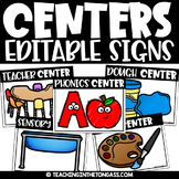 Center Signs for Preschool
