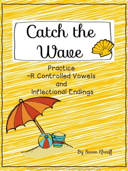 Literacy Center Game - Catch the Wave Uno - inflectional e