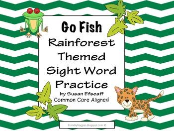 Literacy Center Game - Rainforest Go Fish - Word Work