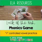 "Literacy Center Game - St. Patrick's Day - ""R"" controlled"