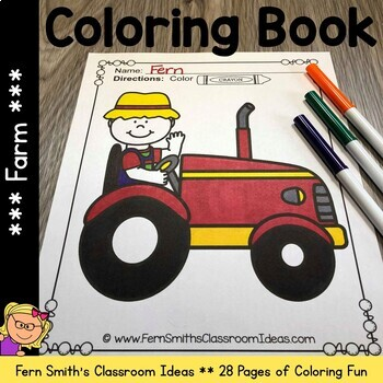 Coloring Pages for the Farm and Farm Animals