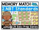 Math Center Games {Memory Match for 2nd Grade NBT 1 - 8}