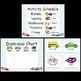 Center Labels, Dismissal Chart, Activity Schedule